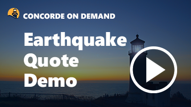 Earthquake Quote Demo